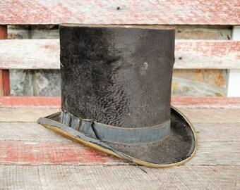 Antique Dunlap & Co. Beaver Skin Top Hat