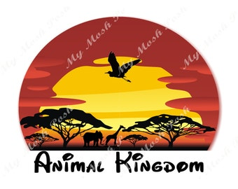 Disney Vacation Animal Kingdom Iron on Transfer  digital Transfer 2017