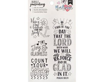 Bible Journaling Rub-Ons BELIEVE by American Crafts Bible Journaling Rub-ons 1 Sheet 378674 1.cc1x
