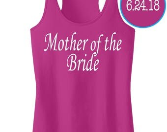 Mother Of The Bride Tank Top With Personalized Date Or Name.Bridesmaid Shirts Tanks.Bride Gift.Bride Tank Top.Future Mrs.Bride's Crew Posse