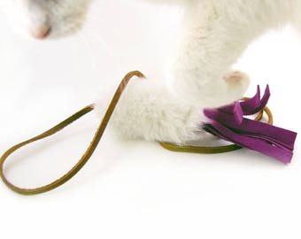 Cat Teaser Toy, Catnip, Silvervine and Rattle Options
