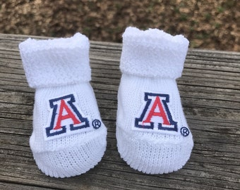 Arizona wildcats baby booties