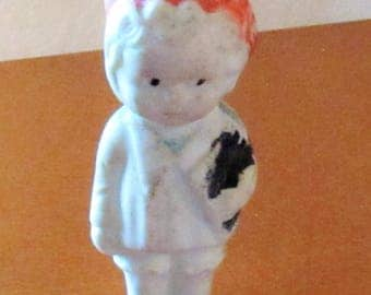Miniature or Small Porcelain Doll, Japan