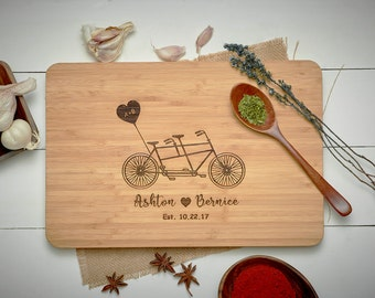 Boyfriend Gift, Engagement Gifts for Couple, Cutting Board Personalized Wedding Gift, Christmas Gifts for Coworkers, Gifts Under 20//CB#01