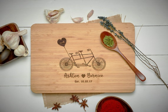 Handmade Wedding Gifts For Couple : Gift, Engagement Gifts for Couple, Cutting Board Personalized Wedding ...
