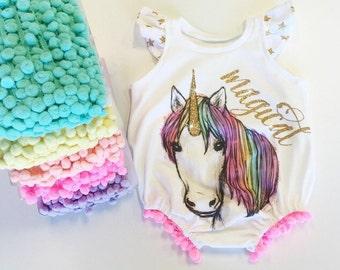 Unicorn Romper OR Shirt