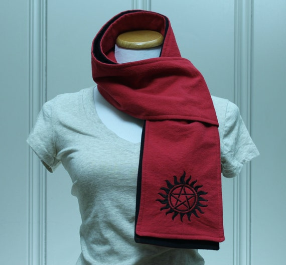 SALE Antipossession Red and Black Flannel Scarf