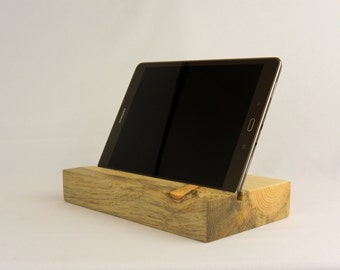 iPad Stand - Tablet Stand - Beetle Killed Pine - Natural - Minimalist - Technology - Handmade - Office - Gift