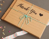 Rustic Wedding / Party Thank You Cards - Pack of 10