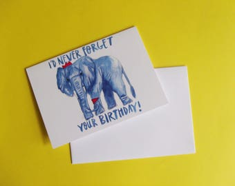 I'd Never Forget Your Birthday A6 Greeting Card
