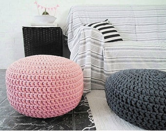 Incredible Knit Pouf Ottoman Canada Handmade Knitted Pouf Bright White Machost Co Dining Chair Design Ideas Machostcouk