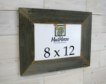 8x12 barnwood thin x 3 picture frame