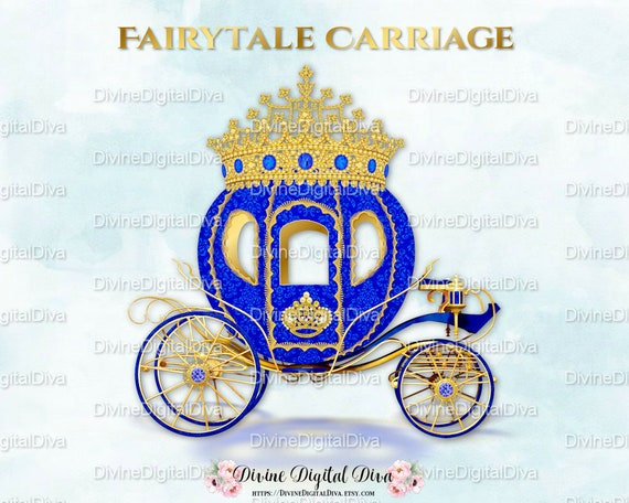 Royal Blue Gold Prince Princess Cinderella Fairytale ...
