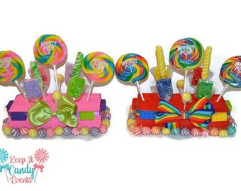 Building Block Themed Candy Centerpieces, Building Block Lollipop Decor, Birthday Theme, Party Decor Ideas, Children's Birthday, Block Decor