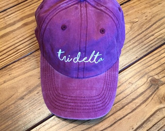 Tri Delta Pigment GREEK Cap DISCONTINUED