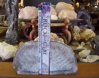 Brazilian Agate Bookends, Rock Bookends, Stone Bookends