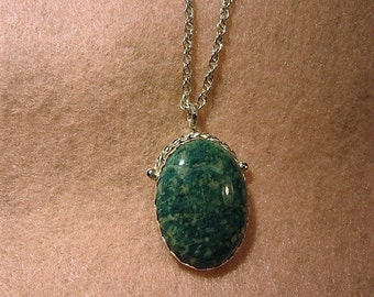 Amazonite & Sterling Silver Pendant