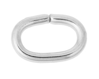 200 Stainless Steel Opened Jump Rings Findings Oval Silver Tone 7 x 5mm