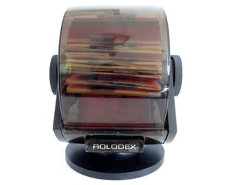 Rolodex Covered Rotary Swivel File Business Card & Phone Organizer SW-24C USA