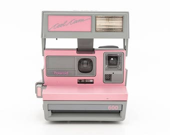 Polaroid 600 Cool Cam Pink & Grey Instant Camera - Film Tested and in Working Condition