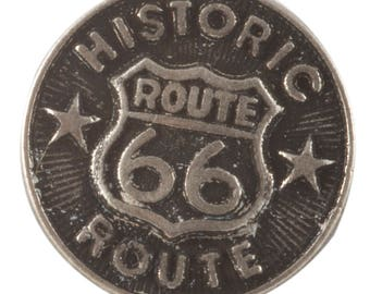 JH90387 or JH90389 - Route 66 Button