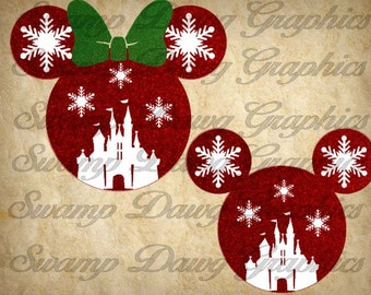 Christmas svg, Christmas Minnie svg, Christmas Mickey svg, minnie svg, mickey svg, silhouette, cricut, decal, vinyl, digital file, svg, htv