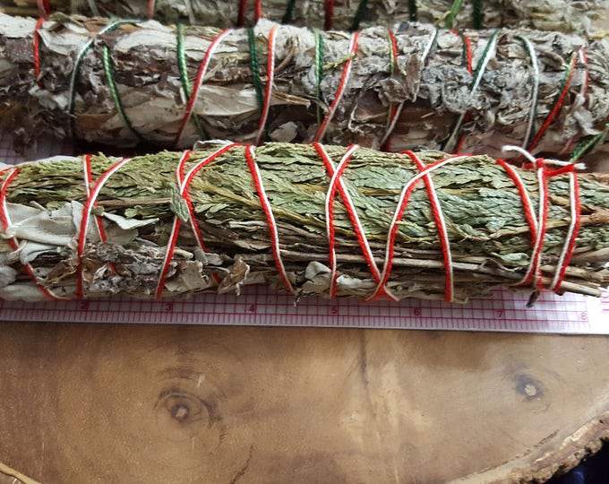 1 Large Five Directions Bundle ~(Desert Sage, White & Black Sage, Cedar, Lavender) approximately 8~9 inches, wild harvested, Reiki infused
