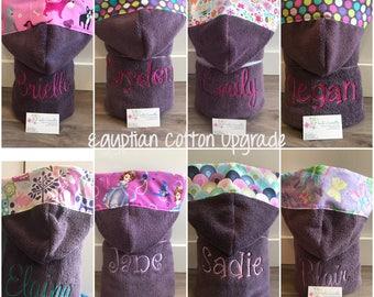 Hooded towel, DARK PURPLE, Luxury Egyptian Cotton. Sale! Save 5 bucks!