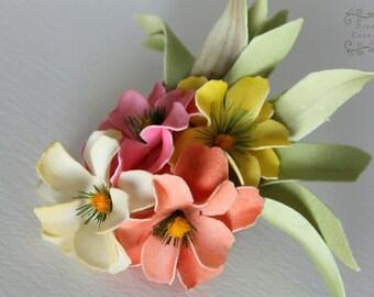Moana Wildflower clip or headband