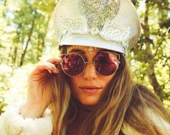Custom Burning Man Hat, Festival Hat, Captains Hat