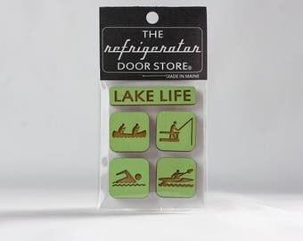 Refrigerator Magnet. Fridge Magnets. Kitchen Magnets. Kitchen Decor. Magnets. Lake Life.