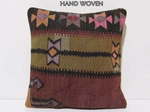 Dark Coral Throw Pillows : red decorative pillow 18x18 coral throw pillow black kilim