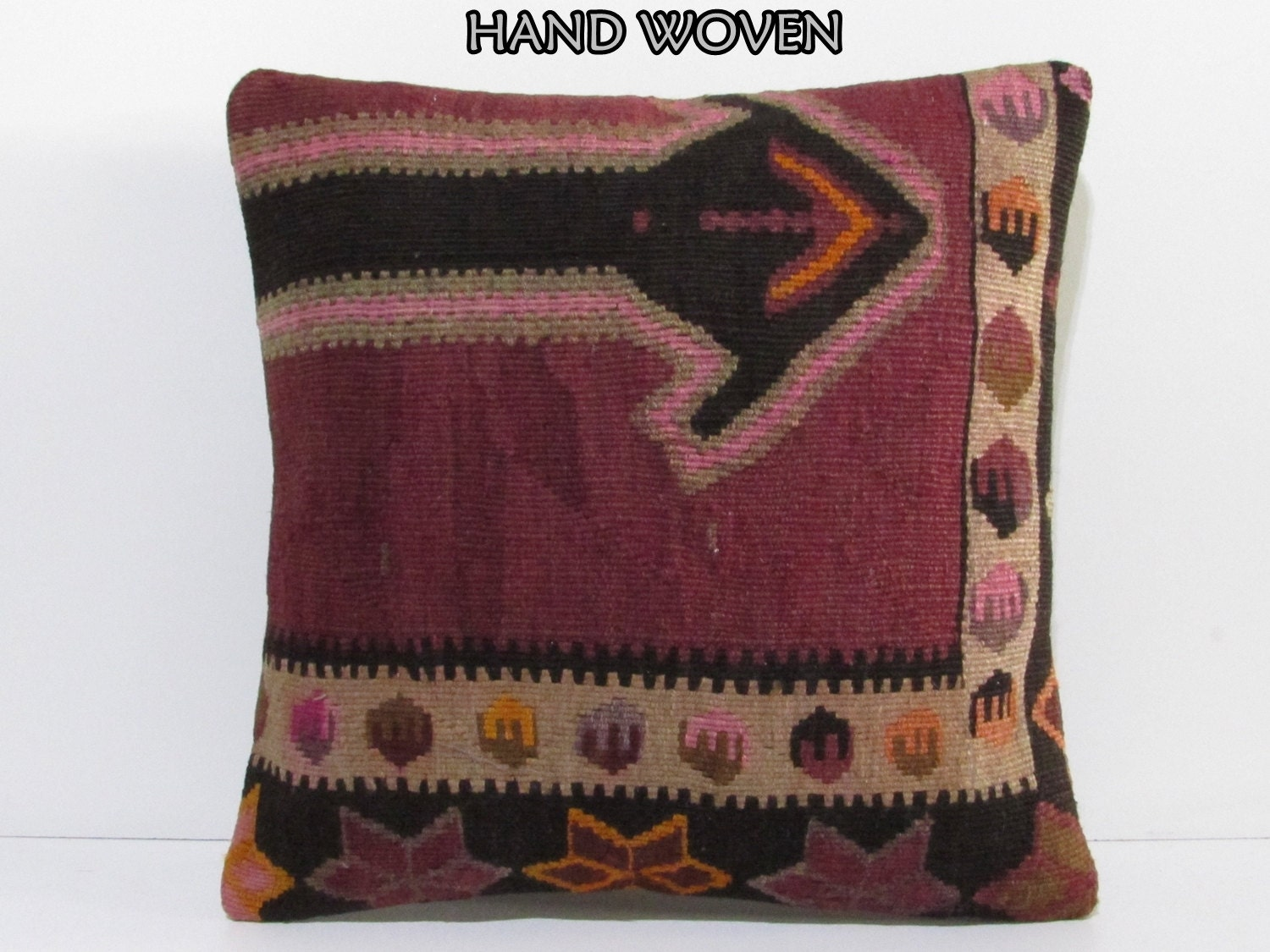 Large Floor Pillow Cases : 20x20 kilim pillow 20x20 giant pillow case large floor rug 20