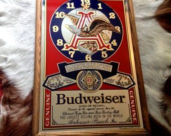 Vintage Budweiser Mirror Etsy