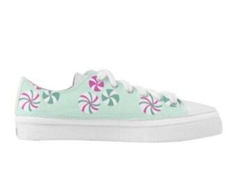 PRE-ORDER Brand New Custom Mint Candy Women's Tennis Shoes Kawaii