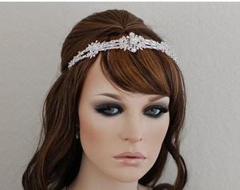 Swarovski Crystal Headband Bridal Headpiece Crystal Head Piece Bridal Hair Accessories Wedding Jewelry Headband Beaded Prom Hair Band