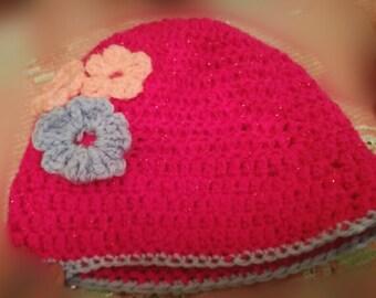 Sparkle pink Baby hat
