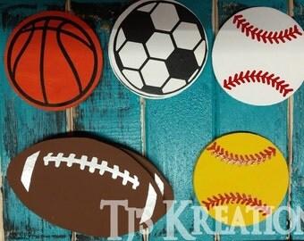 Sports balls for wreaths , door hangers , supplies