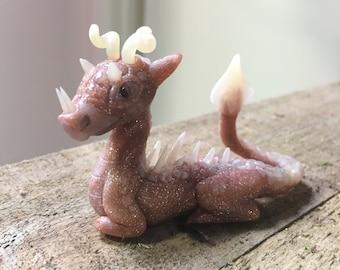 Copper glitter dragon
