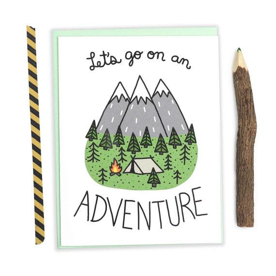 Adventure Card Outdoorsy Birthday Card Anniversary Card