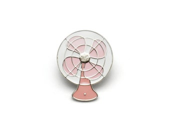 Vintage Electric Fan Enamel Pin (Rose)