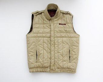 Vintage Puffer Vest // 70's Lord Anthony Beige