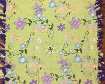 Tinkerbell Fleece Tie Blanket