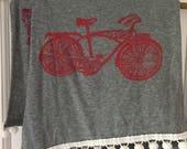 Bike scarf with pin pom trim