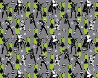 Star Wars fabric - Rogue One Imperial Army - Camelot - Star Wars, storm tropper fabric, Orson Krennic, the dark side, darth vader, grey