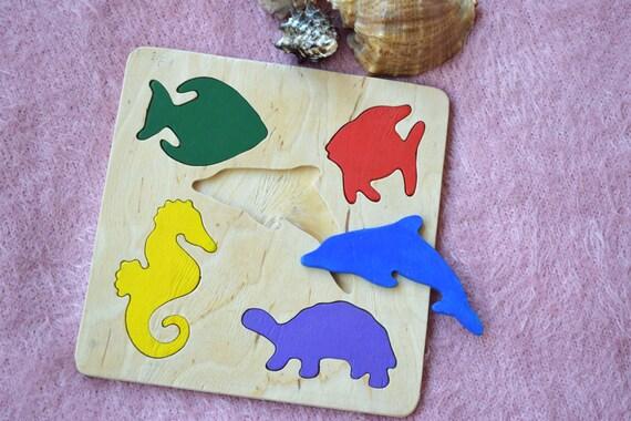 holz puzzle baby montessori spielzeug p dagogische spielzeug. Black Bedroom Furniture Sets. Home Design Ideas