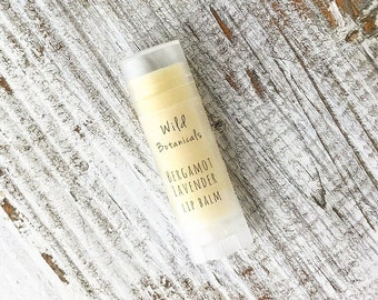 Bergamot and Lavender Lip Balm, All Natural
