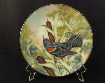 Red-winged Blackbird Songbirds of the South Collector's Plate by Southern Living Gallery