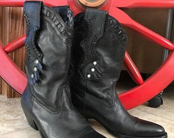 Vintage cowboy boots, size 5.5