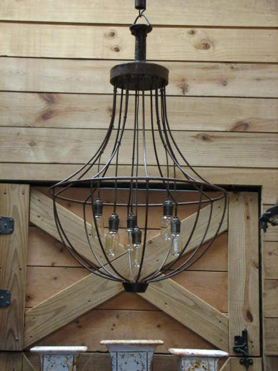 Industrial Chandelier Farmhouse Chandelier Rustic : il570xN11538388062kz2 from www.etsy.com size 480 x 640 jpeg 60kB